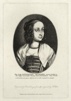 Katherine Livingston (née Howard), Viscountess Newburgh, by Richard Sawyer, after  Wenceslaus Hollar - NPG D28438