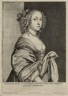 Elizabeth Hervey, by Wenceslaus Hollar, after  Sir Anthony van Dyck - NPG D28442