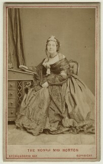 Caroline Elizabeth Sarah Norton (née Sheridan, later Lady Stirling-Maxwell), by London Stereoscopic & Photographic Company - NPG x26597