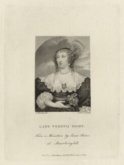 Venetia, Lady Digby, by Andrew Birrell, published by  Silvester (Sylvester) Harding, after  Isaac Oliver - NPG D28448