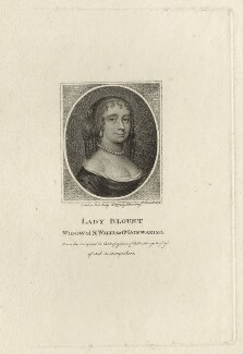 Hester Blount (née Wase), Lady Blount, by Schenecker, published by  Edward Harding - NPG D28451