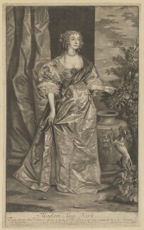 Anne Kirke (née Killigrew), by Isaac Beckett, after  Sir Anthony van Dyck, published by  Edward Cooper - NPG D28452