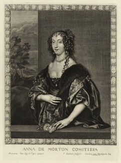 Ann Douglas (née Villiers), Countess of Morton, by Pierre Lombart, after  Sir Anthony van Dyck - NPG D28464
