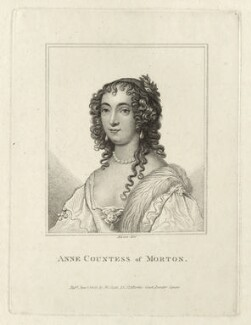 Ann Douglas (née Villiers), Countess of Morton, by Rivers, published by  John Scott, after  Sir Anthony van Dyck - NPG D28468