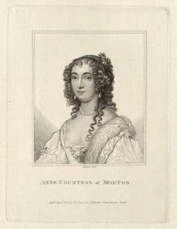 Ann Douglas (née Villiers), Countess of Morton, by Rivers, published by  John Scott, after  Sir Anthony van Dyck - NPG D28468