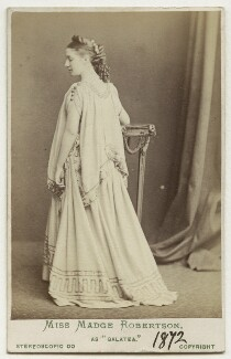 Madge Kendal as Galatea in 'Pygmalion and Galatea', by London Stereoscopic & Photographic Company - NPG Ax18152
