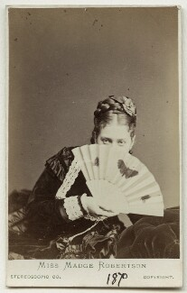 Madge Kendal, by London Stereoscopic & Photographic Company, 1870 - NPG Ax18151 - © National Portrait Gallery, London