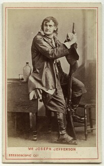 Joseph Jefferson as Rip van Winkle in 'Rip van Winkle', by London Stereoscopic & Photographic Company, after  Napoleon Sarony - NPG Ax18184