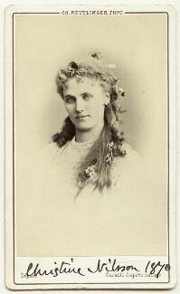 Christine Nilsson, by Charles Reutlinger - NPG Ax18180