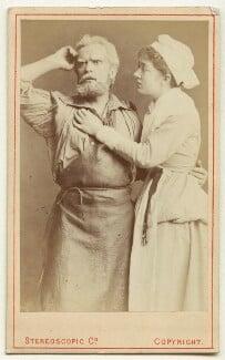Hermann Vezin as Dan'l Druce; Marion Bessie Terry as Dorothy in 'Dan'l Druce, Blacksmith', by London Stereoscopic & Photographic Company, 1876 - NPG Ax18193 - © National Portrait Gallery, London