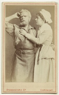 Hermann Vezin as Dan'l Druce; Marion Terry as Dorothy in 'Dan'l Druce, Blacksmith', by London Stereoscopic & Photographic Company - NPG Ax18193