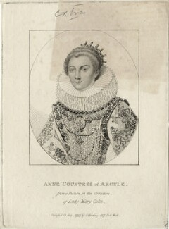 Anne Cornwallis, Countess of Argyll, published by Silvester (Sylvester) Harding, after  Unknown artist - NPG D28476
