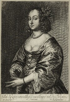 Mary (née Ruthven), Lady van Dyck, by Richard Gaywood, after  Sir Anthony van Dyck, published by  Peter Stent - NPG D28481