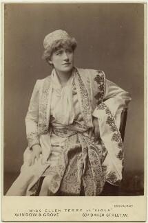 Ellen Terry as Viola in 'Twelfth Night', by Window & Grove, 1884 - NPG  - © National Portrait Gallery, London