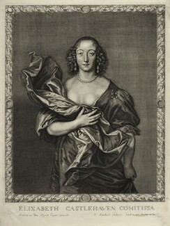 Elizabeth (née Brydges), Countess Castlehaven, by Pierre Lombart, after  Sir Anthony van Dyck - NPG D28484