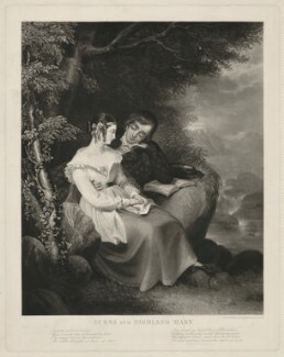 Burns and Highland Mary (Mary Campbell ('Highland Mary'); Robert Burns), by Henry Edward Dawe, published 1849 - NPG D32445 - © National Portrait Gallery, London