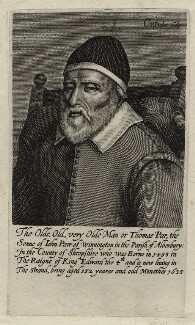 Thomas Parr, by Cornelis van Dalen, after  Unknown artist - NPG D28507