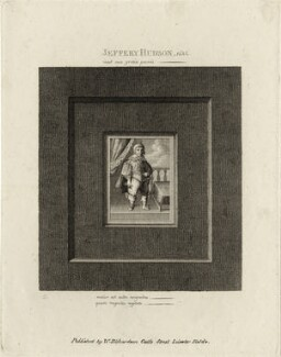 Jeffrey Hudson, after Unknown artist, published by  William Richardson - NPG D28511