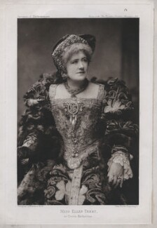 Ellen Terry as Queen Katherine in 'Henry VIII', by Swan Electric Engraving Co., after  Window & Grove, 1892 (1892) - NPG  - © National Portrait Gallery, London