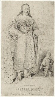 Jeffrey Hudson and King Charles I, by R. Page - NPG D28514