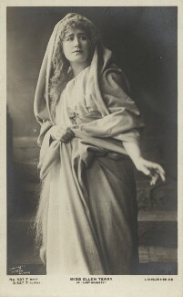 Ellen Terry as Lady Macbeth in 'Macbeth', by Window & Grove, published by  J. Beagles & Co - NPG x16991