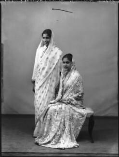 The sisters of Maharaja Sir Partap Singh Malvendra, Bahadur (probably Kamla Devi Sahiba and Vimla Devi Sahiba), by Bassano Ltd - NPG x96775
