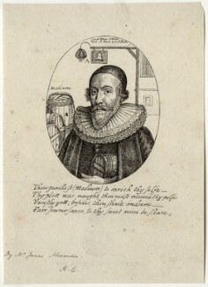 William Abell, by James Alexander, after  Wenceslaus Hollar, early 19th century - NPG D28525 - © National Portrait Gallery, London