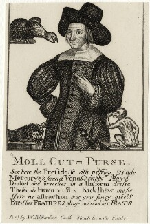 Mary Frith ('Moll Cutpurse'), after Unknown artist, published by  William Richardson - NPG D28535