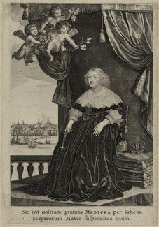 Marie de Medici of France, possibly published by Jean Le Blond - NPG D28547