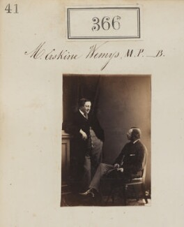 James Hay Erskine Wemyss with an unknown man, by Camille Silvy - NPG Ax50128