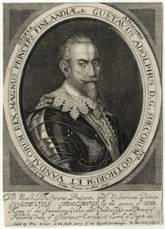 Gustavus Adolphus, King of Sweden, by William Marshall, published by  Thomas Jenner - NPG D28557