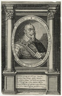 Gustavus Adolphus, King of Sweden, by Sebastian Furck, after  Friedrich van Hulsen - NPG D28560