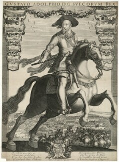 Gustavus Adolphus, King of Sweden, published by Balthasar Moncornet, after  Unknown artist - NPG D28567