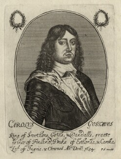 Charles X, King of Sweden, by Richard Gaywood, published by  Peter Stent - NPG D28577