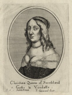Christina, Queen of Sweden, by Richard Gaywood, published by  Peter Stent - NPG D28579