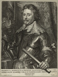Frederick Henry, Prince of Orange, Count of Nassau, by Conrad Waumans (Woumans), after  Sir Anthony van Dyck - NPG D28583