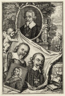 Christian Thomas Sehested; Hannibal Sehested; Malthe Sehested and Mogens Sehested, by A.F. - NPG D28605