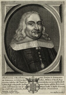 Stephen de Gamarra, by Cornelis Meyssens, published by  Johannes Meyssens - NPG D28610
