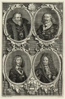 Eric Krabbe, Gregers Krabbe, Niels Krabbe, Otto Krabbe, by Jakob van der Schley - NPG D28611