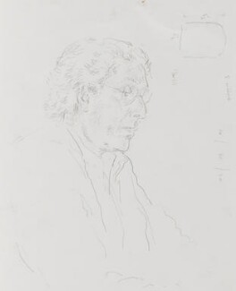 Edward David Brynmor Jones, by John Lessore - NPG 6501(1)