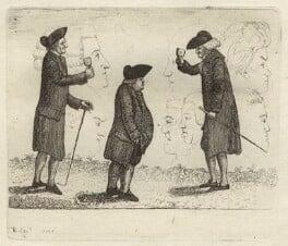 John Wemyss; Robert Clerk; George Pratt, by John Kay - NPG D32459