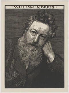 William Morris, by Robert Bryden, after  Frederick Hollyer, circa 1899 (1884) - NPG  - © National Portrait Gallery, London