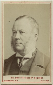 Charles Henry Gordon-Lennox, 6th Duke of Richmond, 6th Duke of Lennox and 1st Duke of Gordon, by London Stereoscopic & Photographic Company, 1873 - NPG Ax28461 - © National Portrait Gallery, London