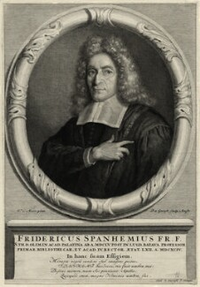 Fredericus Spanheim, by Pieter Stevens van Gunst, after  Carel de Moor - NPG D28633