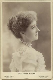 Mary Moore, by Alexander Corbett, for  Alfred Ellis & Walery - NPG x21402