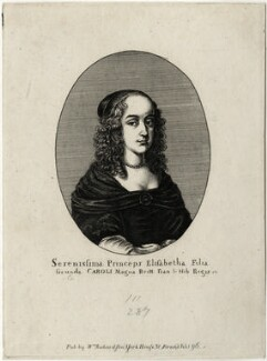 Princess Elizabeth, possibly by Edmund Dorrell, after  Wenceslaus Hollar, published by  William Richardson - NPG D28655