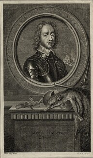Oliver Cromwell, by Pierre Drevet, after  Adriaen van der Werff - NPG D28663
