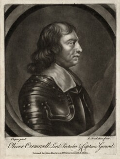 Oliver Cromwell, by Richard Brookshaw, published by  John Bowles - NPG D28664