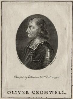 Oliver Cromwell, by Robert Hartley Cromek, after  Jacobus Houbraken - NPG D28665