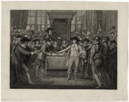 Cromwell dissolving the Long Parliament, by Burnet Reading - NPG D28669